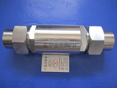 不锈钢焊接止回阀50H21X-320P